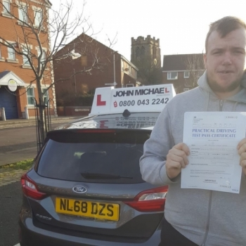 Congratulations to Joe on passing his test today on the first attempt!! Great effort, well done! Call us and be next on 0800 043 2242 or  visit johnmichaeldrivinglessons.co.uk to book!
