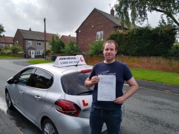 Fantastic drive from Denny Marshall today! He's just passed at the first attempt with just 4 minors at South Shields with our instructor Graham Spensley 🚗💨