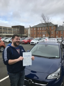ANOTHER FIRST TIME PASS!! Big Smiles 😀😀 from John Stewart today! And so there should be, he's just passed his test today at Blyth with our instructor Dave Sproat and only 3 minors!! Call us and be next on 0800 043 2242 or  visit johnmichaeldrivinglessons.co.uk to book!  #drivinglessons #newcastle #wallsend #heaton #jesmond #northshields #wh...